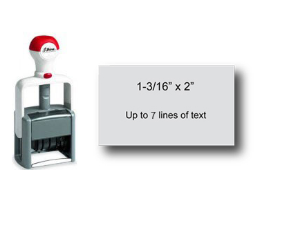 "Shiny Heavy Duty Self-Inking Stamp (1-3/16"" x 2"")"