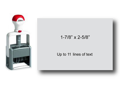 "Shiny Heavy Duty Self-Inking Stamp (1-7/8"" x 2-5/8"")"