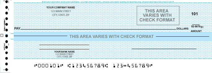 McBee&reg Compatible One Write Checks