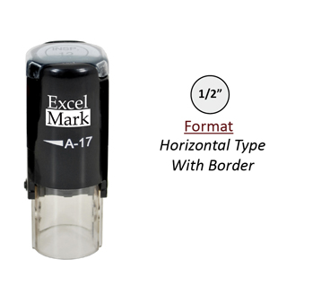 "Self-Inking Custom Stamp - Horizontal Type Border (1/2"" Diameter )"
