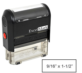 "Self-Inking Custom Stamp (9/16"" x 1-1/2"")"