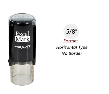 "Self-Inking Custom Stamp - Horizontal Type No Border (5/8"" Diameter)"
