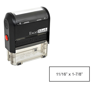 "Self-Inking Custom Stamp (11/16"" x 1-7/8"")"