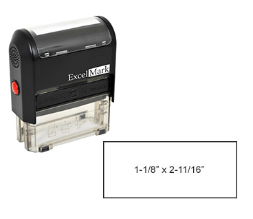 "Self-Inking Custom Stamp (1-1/8"" x 2-11/16"")"