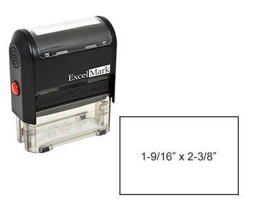 "Self-Inking Custom Stamp (1-9/16"" x 2-3/8"")"