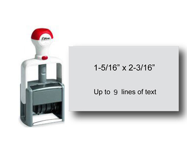 "Shiny Heavy Duty Self-Inking Stamp (1-5/16"" x 2-3/16"")"