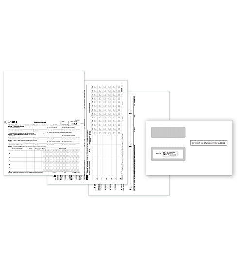 1095-B Bundle Includes Employee, Employer Copy, IRS Copy, Envelope