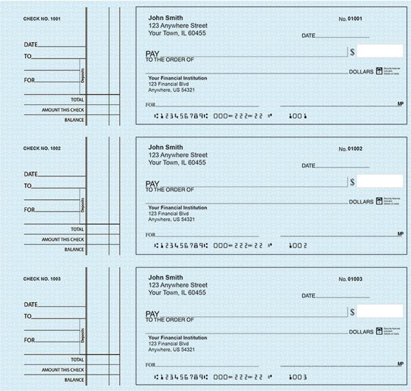 Deskset Personal Checks