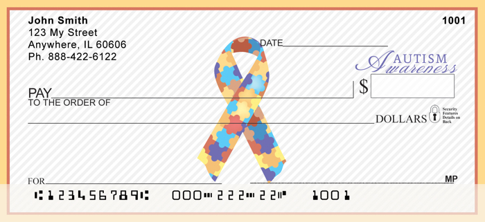Autism Awareness Ribbon<br>RIB-07