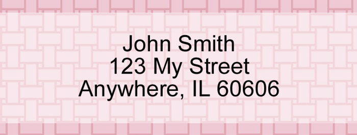 Pink Safety Rectangle Address Label