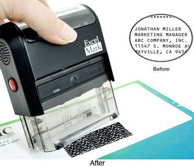Self-Inking Security Stamp, 2-1/8 x 3/4""